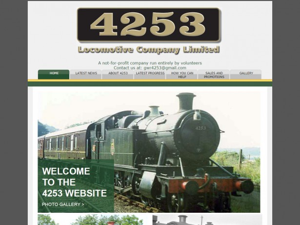 website design 4253 locomotive company