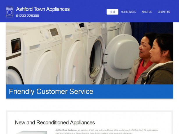 website design ashford town appliances