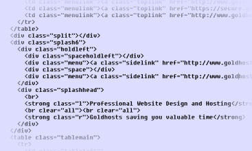 Html Css Coding Website Design By Goldhosts Professional Web Designers In Ashford Kent