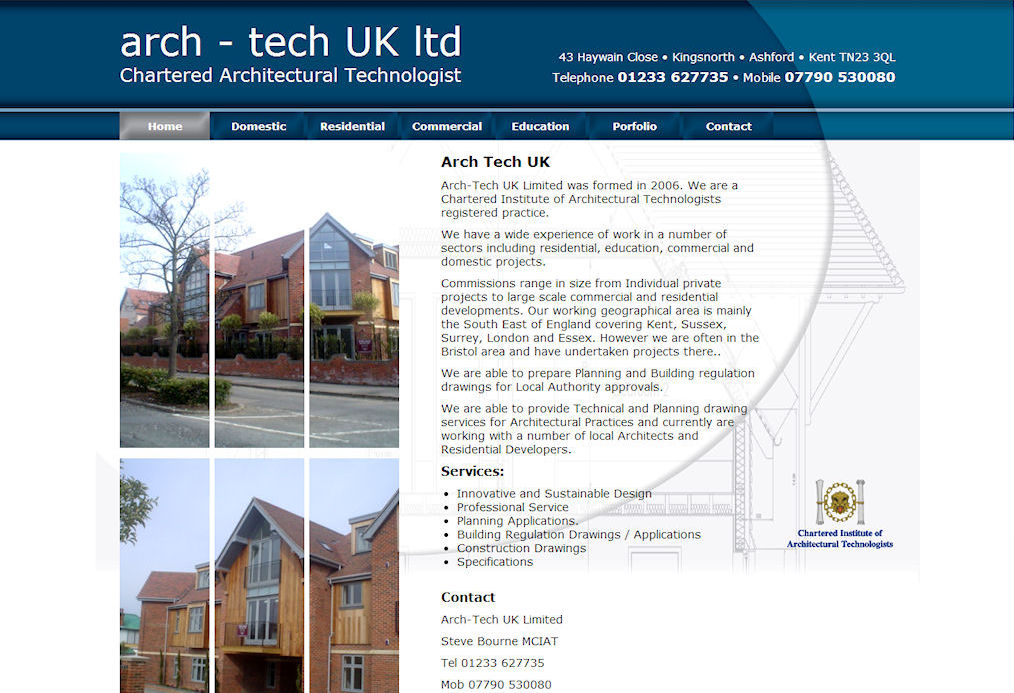 Arch Tech Website Design