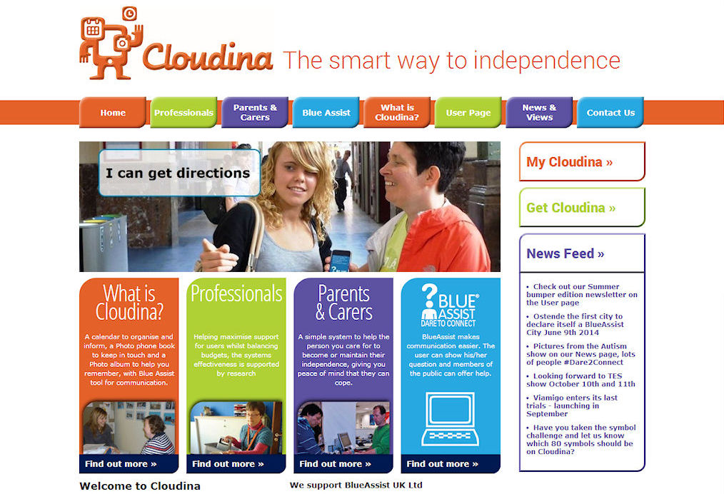 Cloudina Website Design