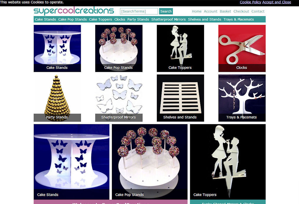 Super Cool Creations Website Design