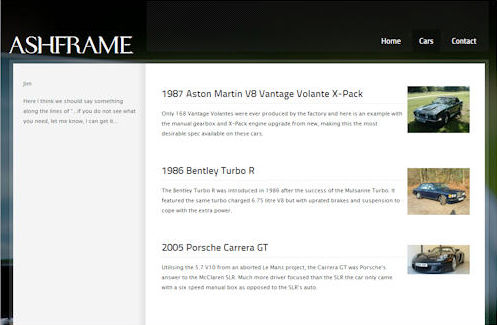 Ashframe Website Design
