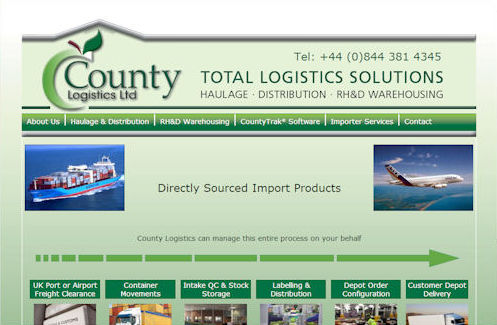 County Logistics Website Design