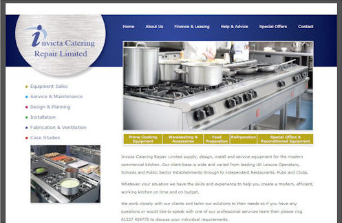 Invicta Catering Website Design