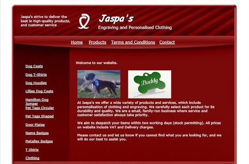 Jaspas Website Design