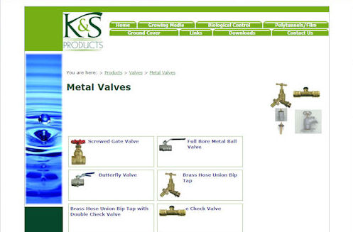 KS Products Website Design