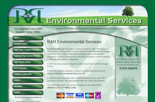 RR Environmental Website Design