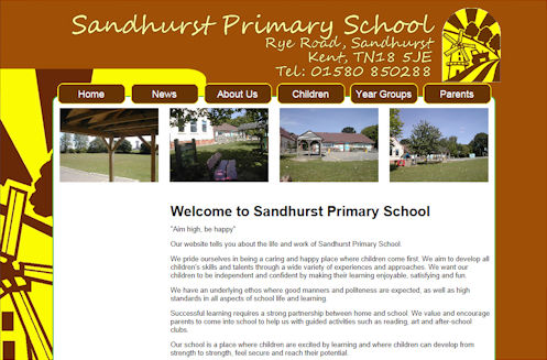 Sandhurst Primary School Website Design