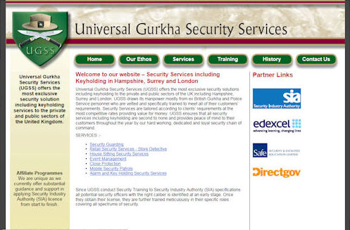 U G S S Website Design