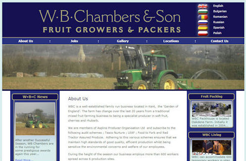 WB Chambers Website Design