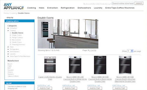 Any Appliance Website Design