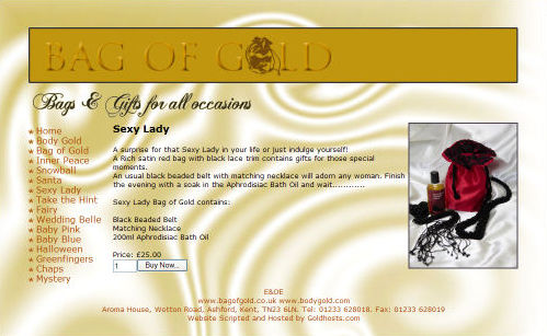 Bag of Gold Website Design