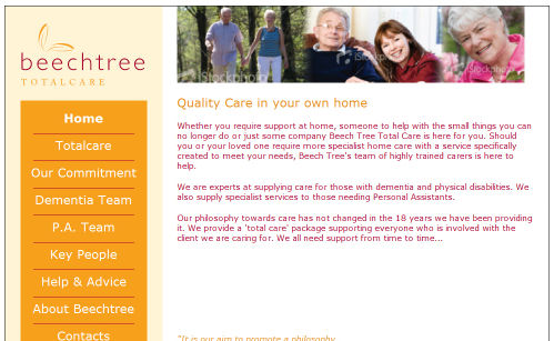 Beechtree Total Care Website Design