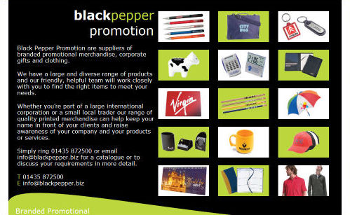 Black Pepper Promotion Website Design