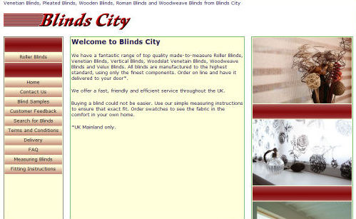 Blinds City Website Design
