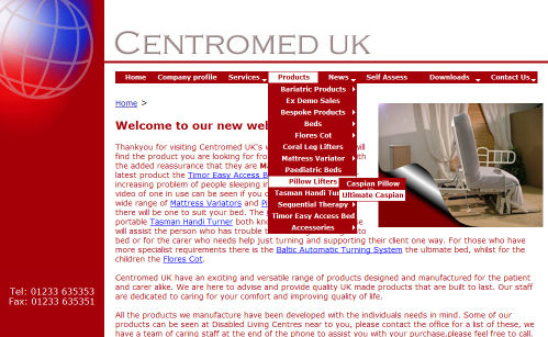 Centromed Website Design