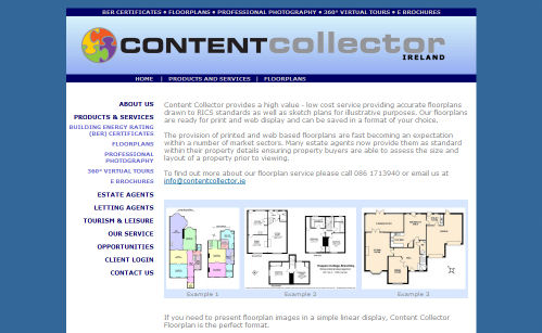 Content Collector Ireland Website Design