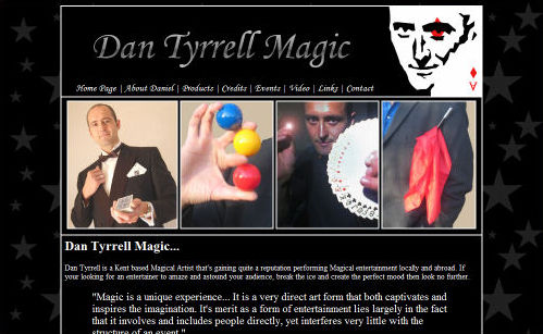 Dan Tyrrell Magic Website Design
