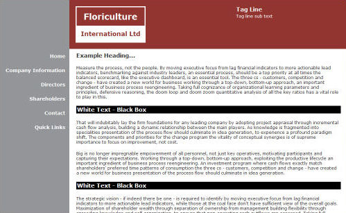 Floriculture International Website Design