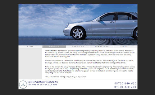 GB Chauffeur Website Design