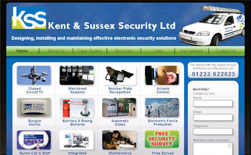Kent And Sussex Security Website Design