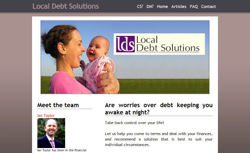 Local Debt Solutions Website Design