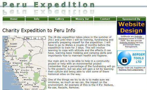 Peru Expedition Website Design