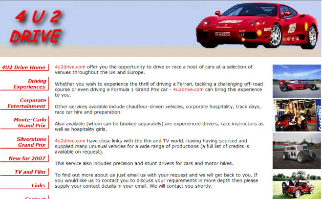 4 U 2 Drive  Website Design