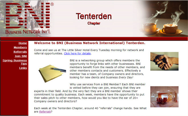 BNI Tenterden Website Design