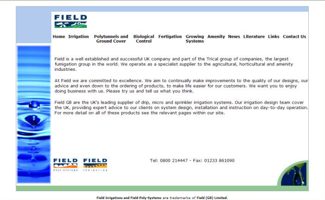 Field GB Website Design