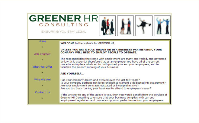 Greener HR Website Design