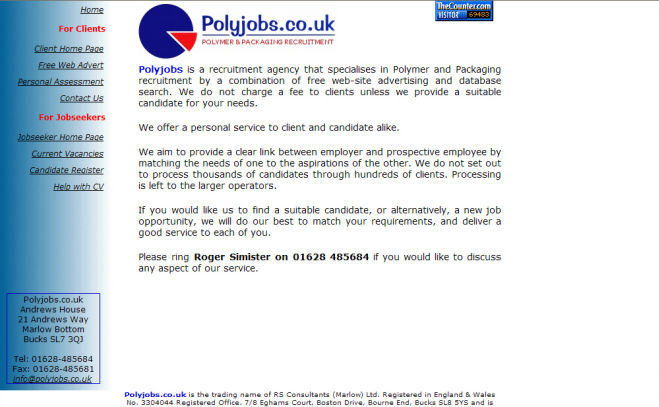Poly Jobs Website Design