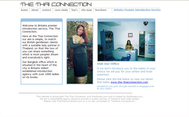 Thai Connection Website Design