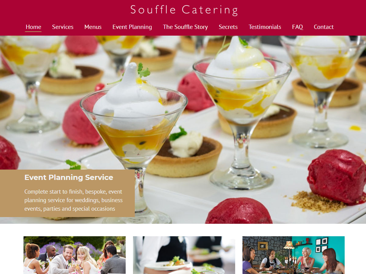 Souffle Catering website