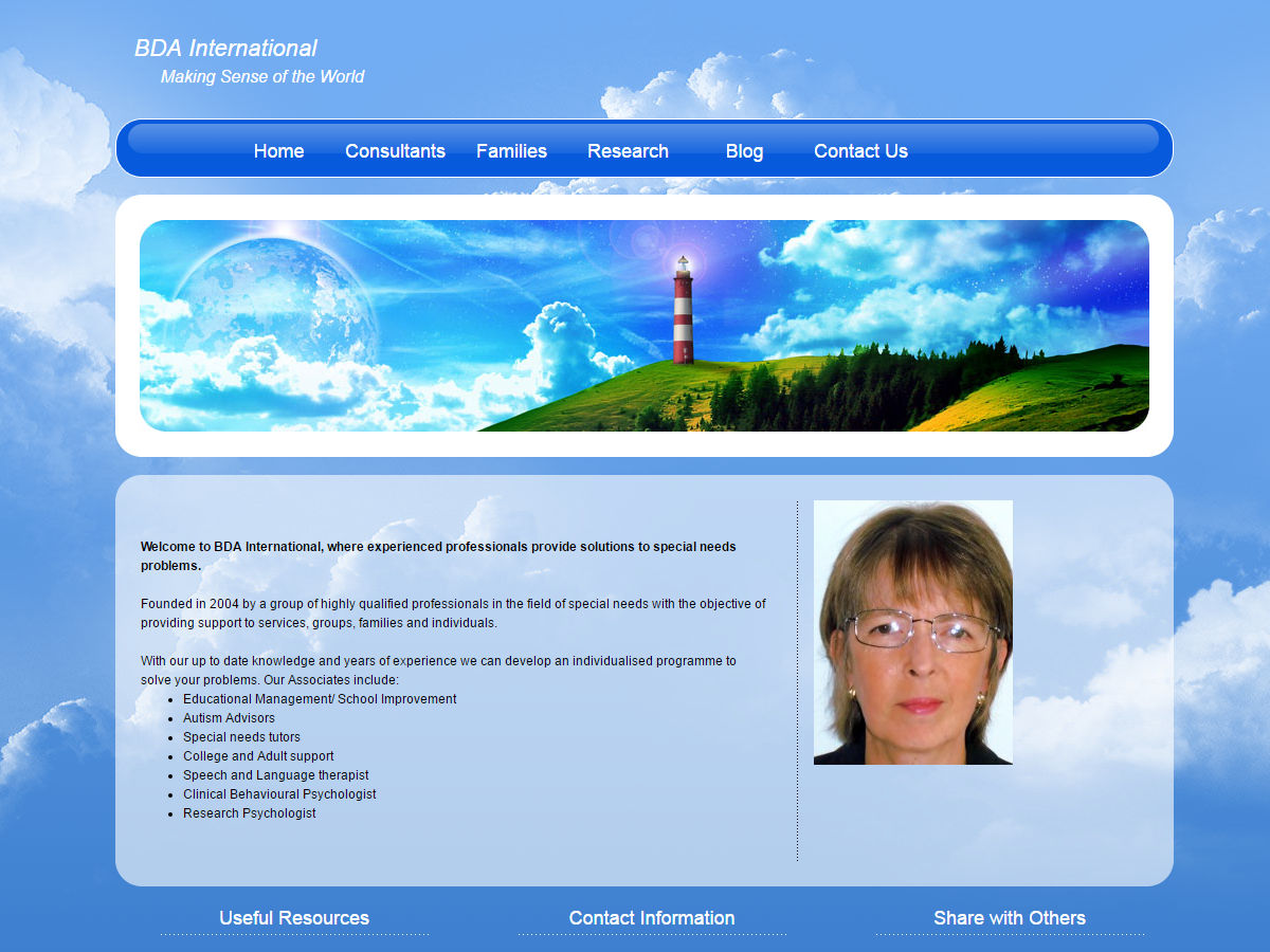 BDA International Website Design