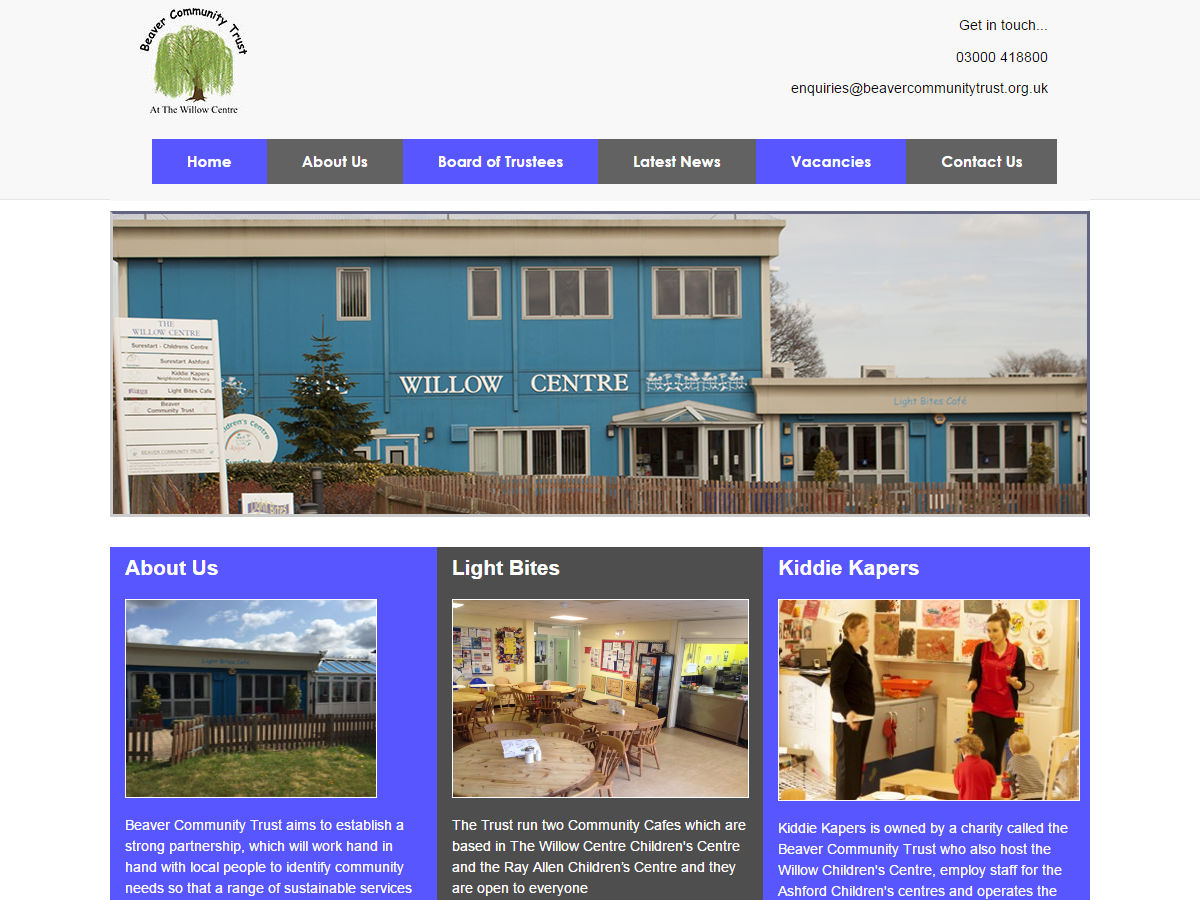 Beaver Community Trust Website Design