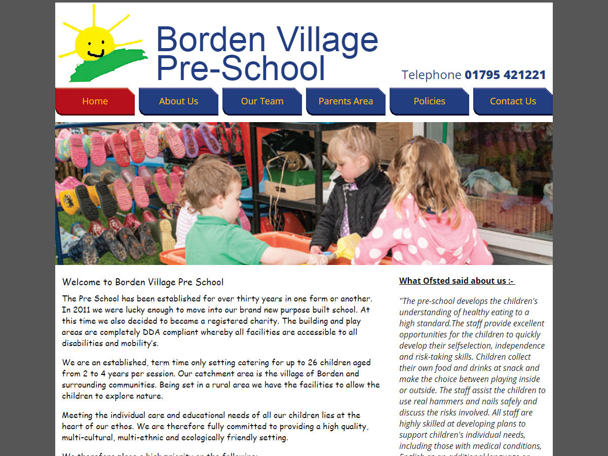 Borden Village School Website Design