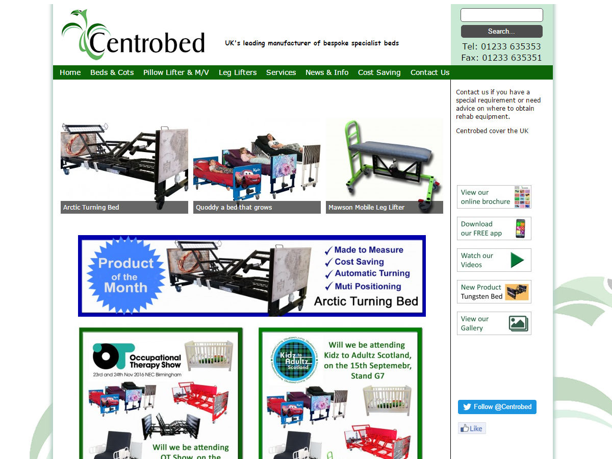 Centrobed Website Design