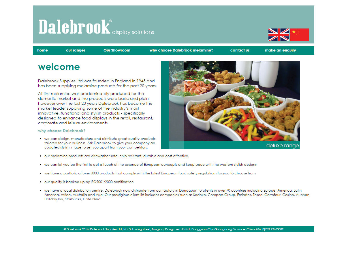 Dalebrook Asia Website Design