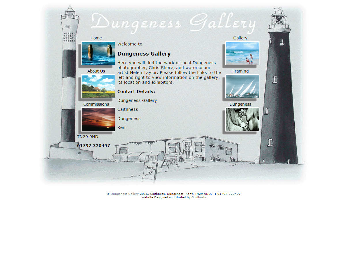 Dungeness Gallery Website Design