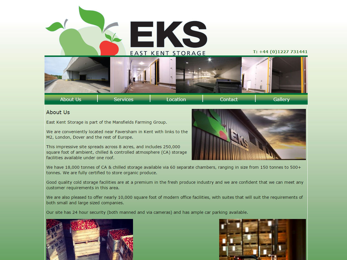East Kent Storage Website Design