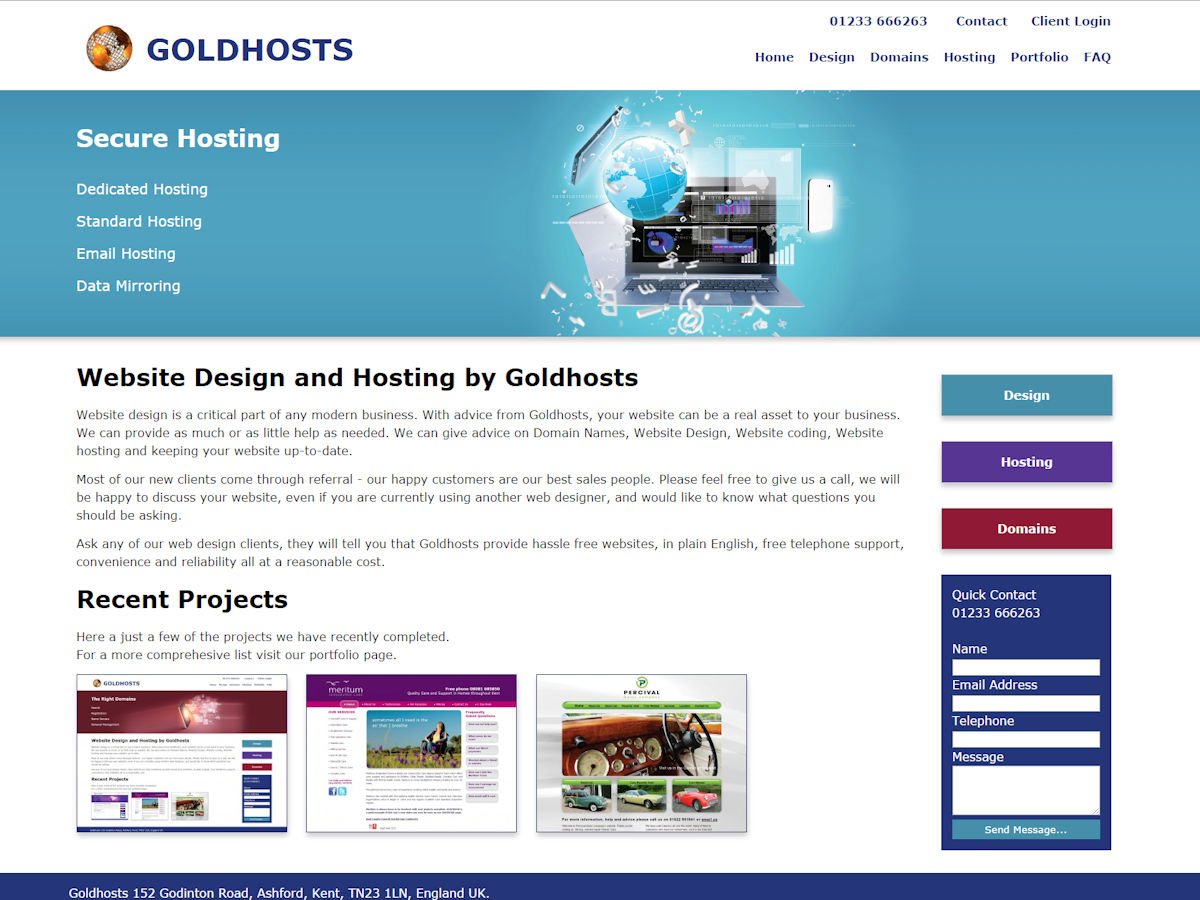 Goldhosts Website Design