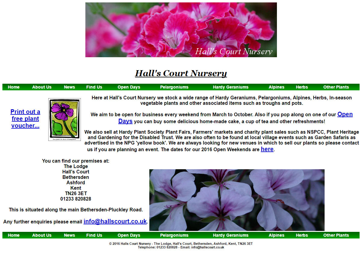 Halls Court Website Design