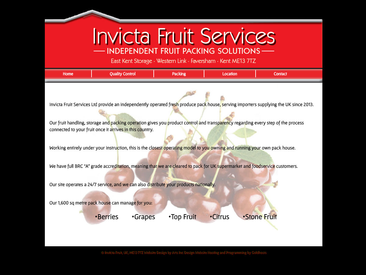Invicta Fruit Services Website Design
