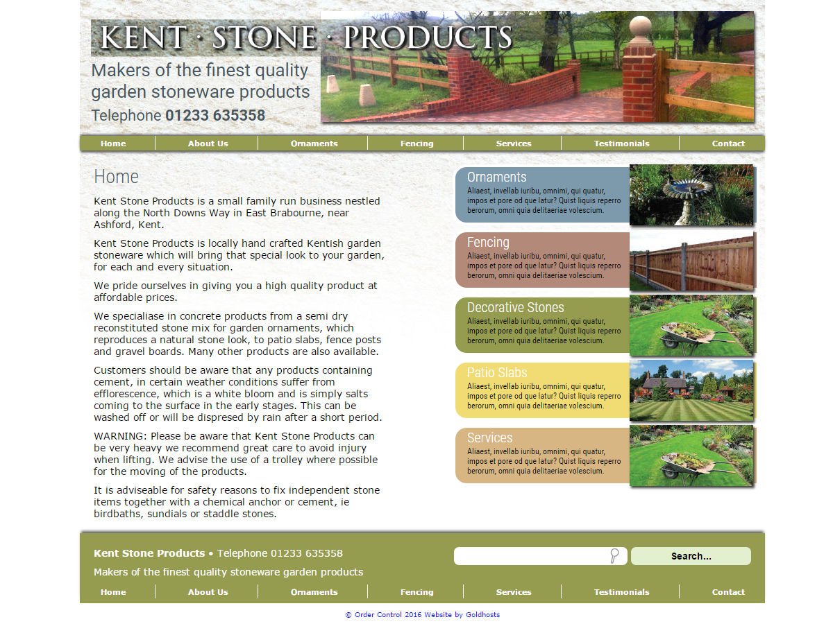 Kent Stone Products Website Design