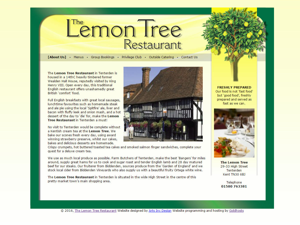 Lemontree Tenterden Website Design