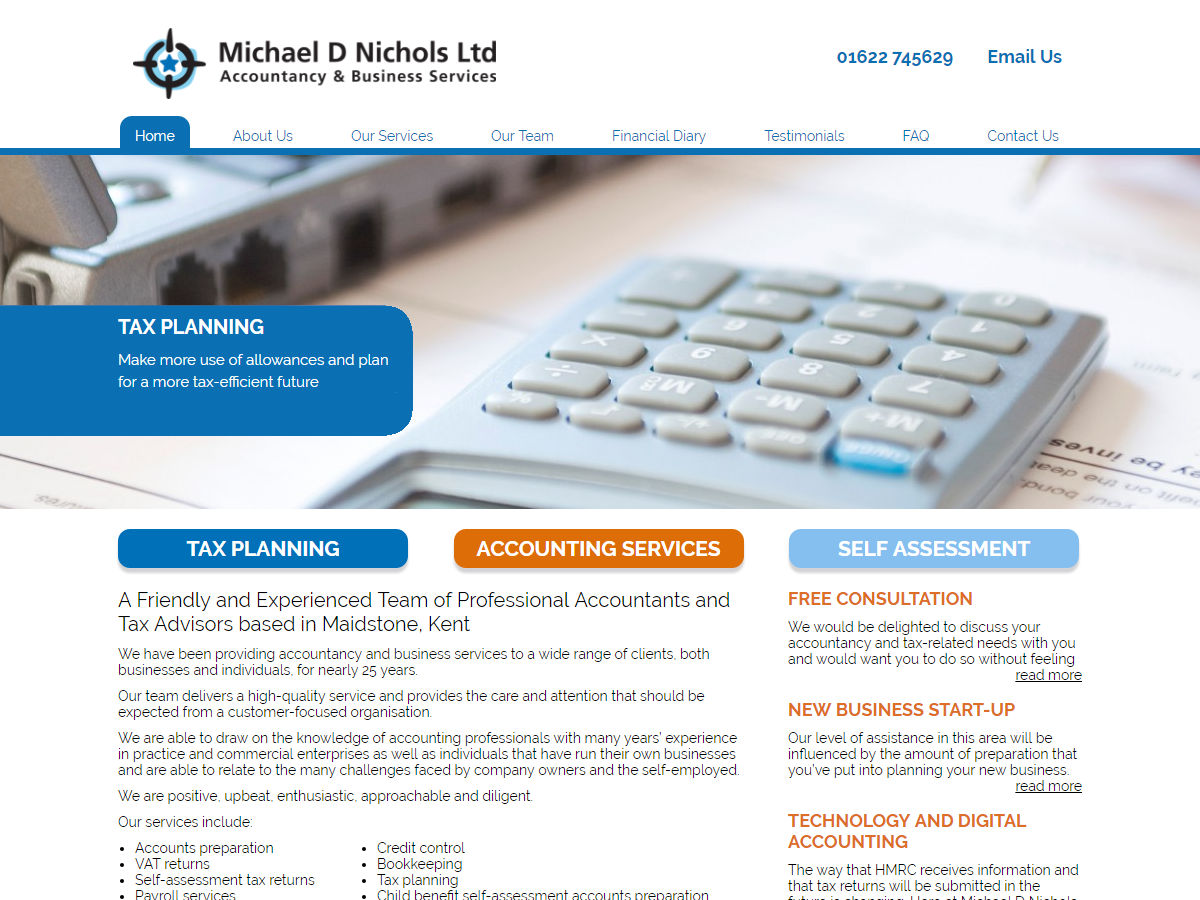 MDN Accountants Website Design