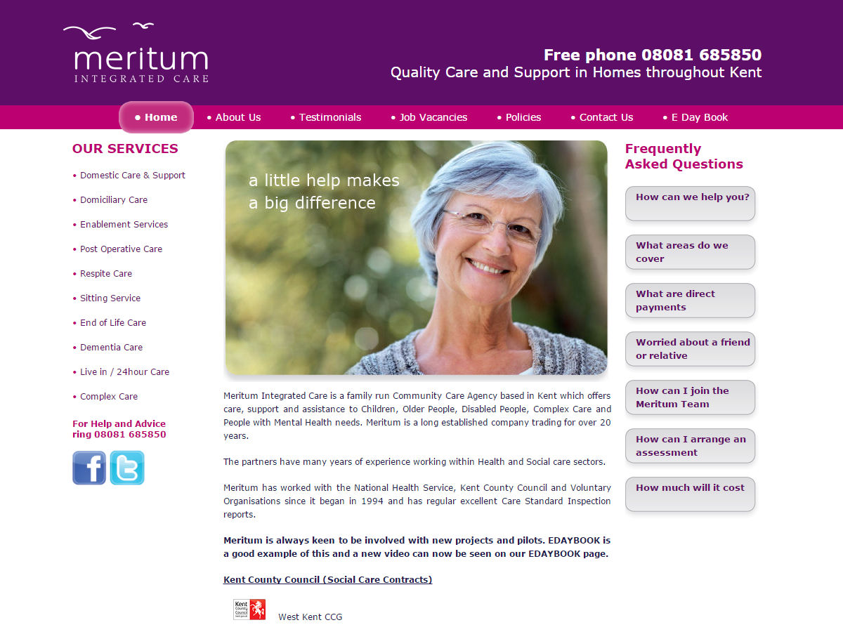 Meritum Website Design
