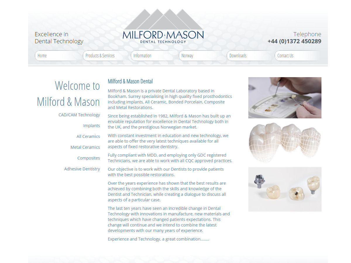 Milford Mason Website Design